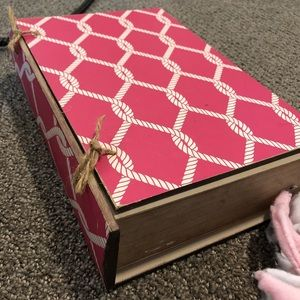 Pink book decor